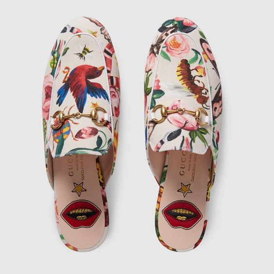 aa120c9dbf4 Women s Gucci  princetown  Embroidered Mule Loafer ...