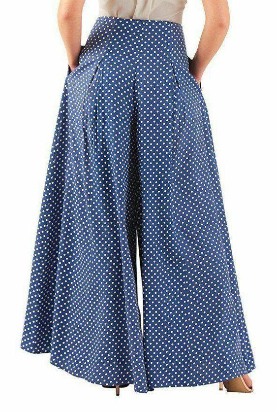 Frauen Hosen Damen Weites Bein Hosen Mode Plissiert Bottoms Hohe Taille