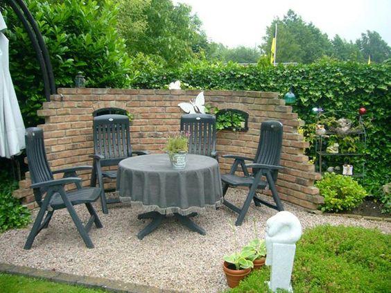 Gartenmauer Freisitz Mauer Pinterest Gartenideen, Gärten und - sitzplatz im garten mit steinmauer