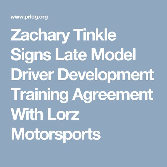 Zachary Tinkle Signs Late Model Driver Development Training