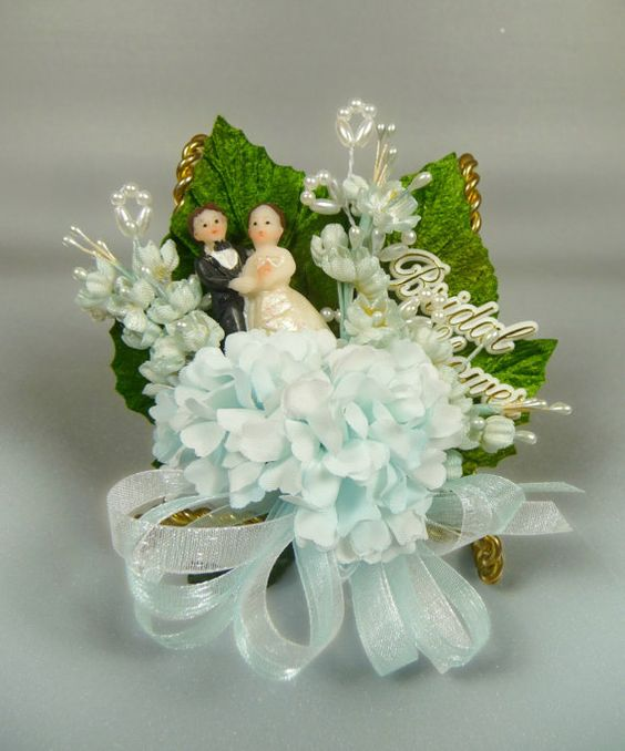 Wedding Corsage Ideas: Bridal Shower Corsage Vintage Something Blue For The By