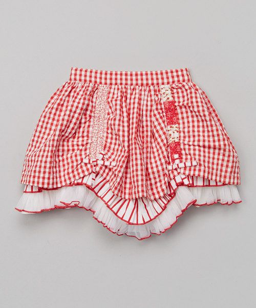 Take a look at the Red Gingham Ruffle Skirt - Toddler & Girls on #zulily today!