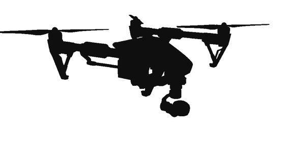 Video footage with drone, professional drones for aerial shooting inspections thermography and photogrammetry with drone