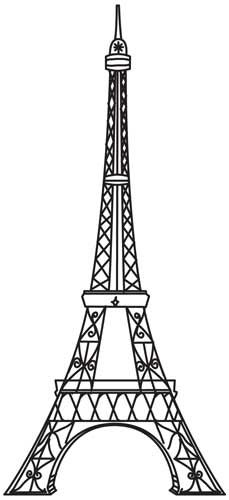 Line Drawing Eiffel Tower : Vintage eiffel tower urban threads unique and awesome
