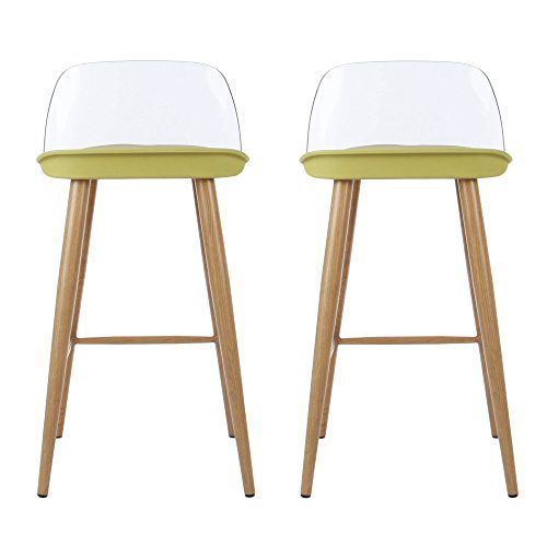 2 Set Bar Stool Height Counter Stool Chairs With Low Bac