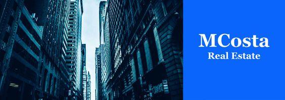 Portada de la web, twitter y Facebook de MCosta Real Estate, especializada en la comercialización de inmuebles.