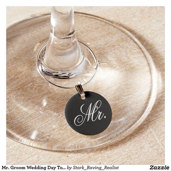 Mr. Groom Wedding Day Toast Glass Marker