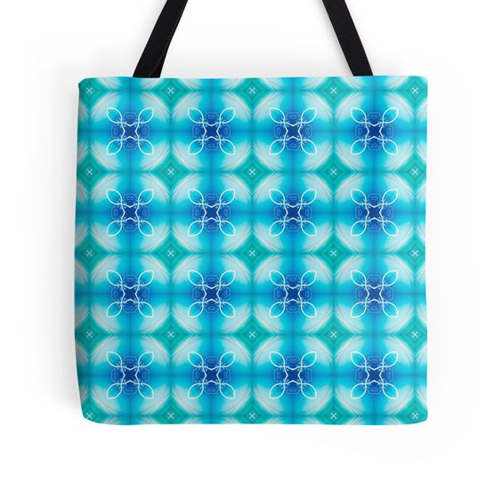 """""""Texture """"east pattern"""" the blue"""" Tote Bags by floraaplus 