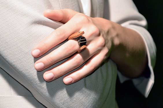 Elegant unique, every day and simple, special, handmade wooden ring, dark wood Wenge, Pear wood. $230.00, via Etsy.