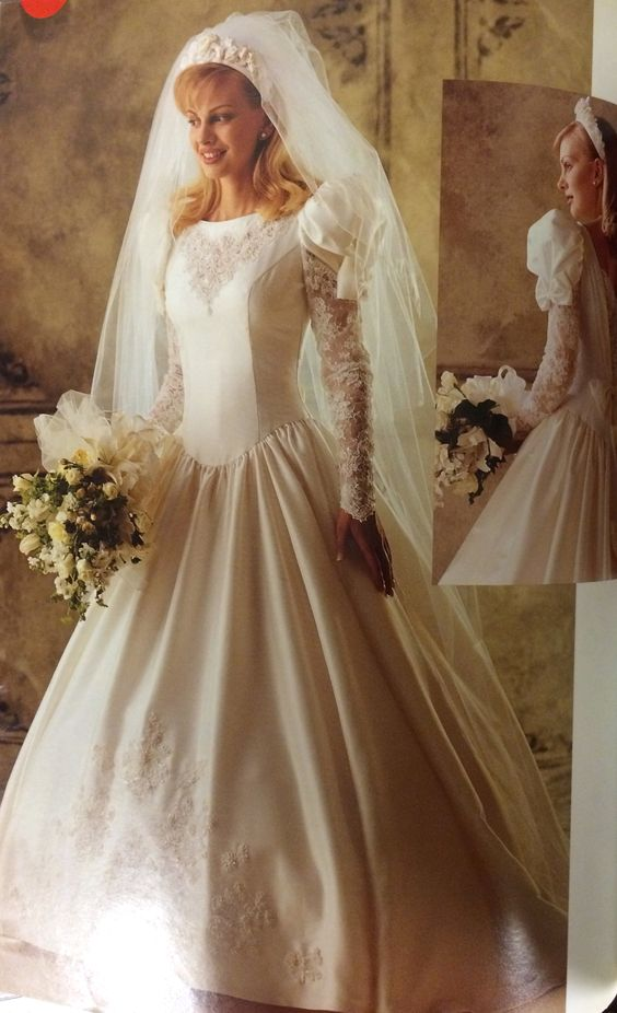 Wedding gown pattern from a 1994 mccall 39 s catalog for Wedding dress patterns mccalls
