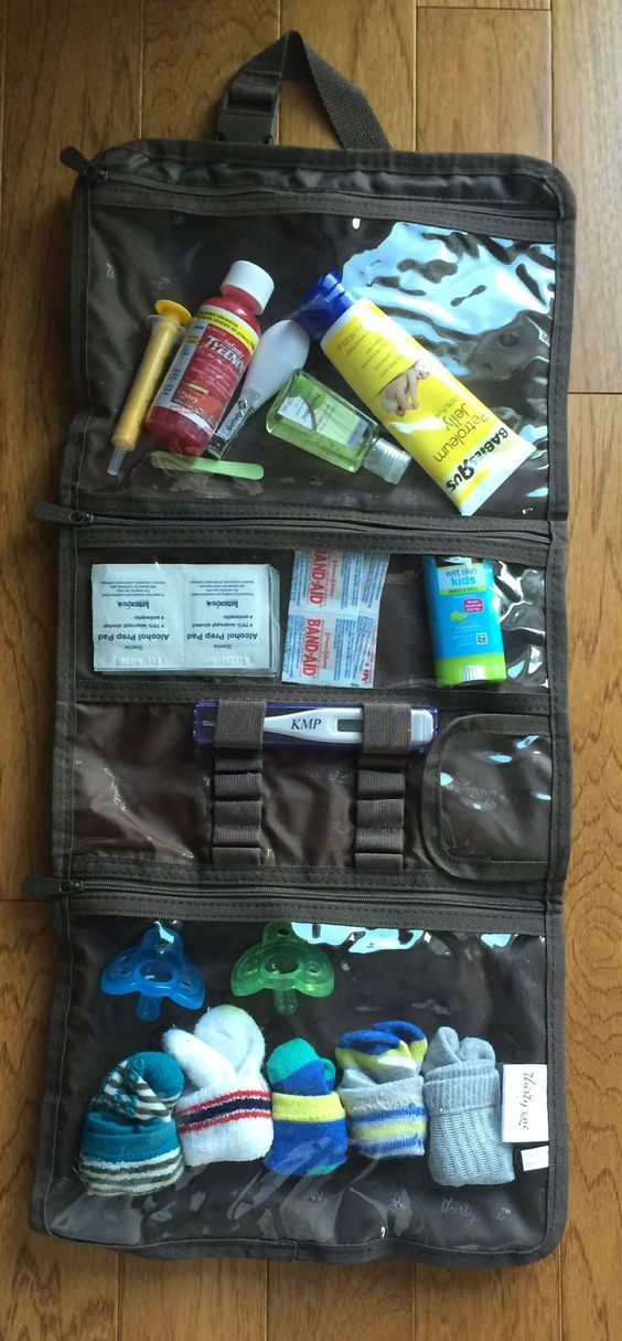 Timeless Beauty Bag as a baby travel kit. tuck it into your diaper bag and have all your emergency needs in one spot