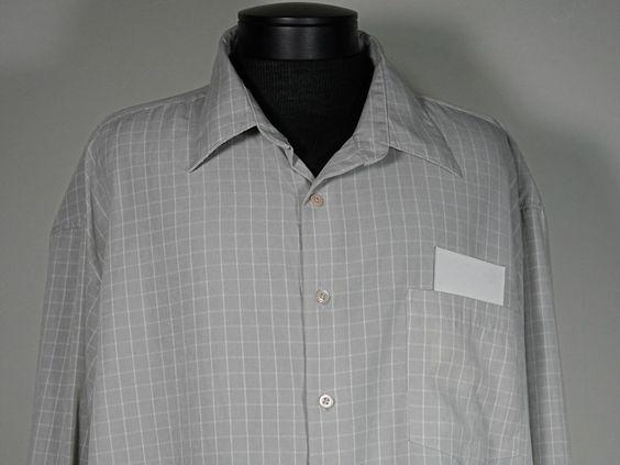 Linea Dome Mens Long Sleeve Dress Shirt Button Front Size 3Xlt Gray Checked  #Clothing #Shopping #eBay http://r.ebay.com/fPeEWl via @eBay