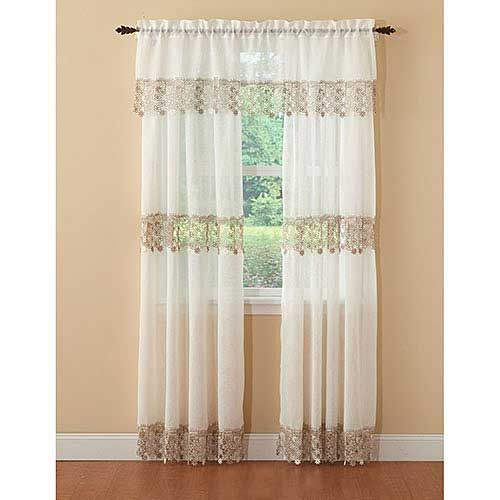 Lillian Macrame Trim Curtain Panel Boscov S Panel Curtains