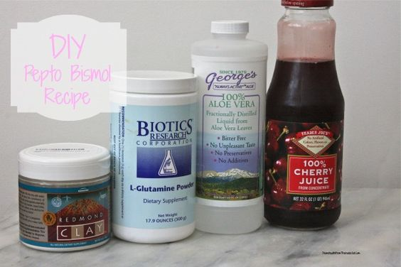 DIY Pepto for food poisoning or upset stomach.