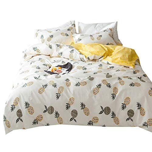 MicBridal Jungle Animal Teen Bedding Sets Queen Cotton White Yellow for Boys Girls,Cute Elephant Tiger Monkey Beetle Giraffe Lion Alligator Cat Print Queen Kids Duvet Cover Set with Zipper Closure