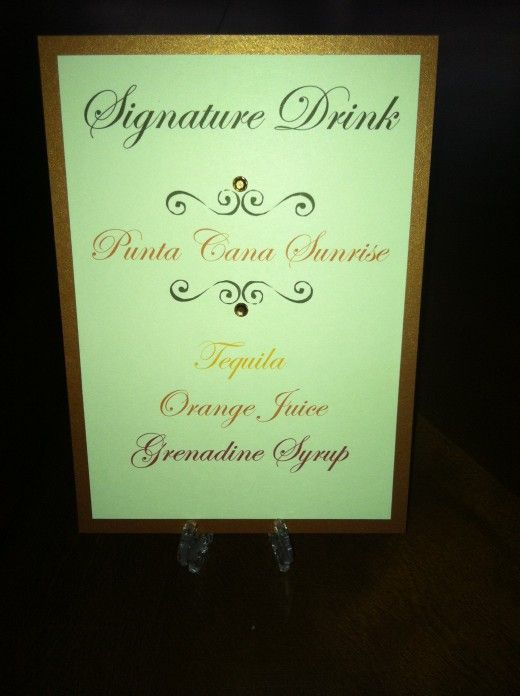 signature drink names