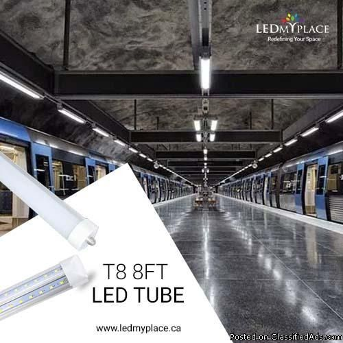 An Ideal Led Retrofit Solution To Traditional Fluorescent Tubes Is The T8 8ft Led Tube That Can E Led Tubes Led Lighting Solutions Lighting Solutions