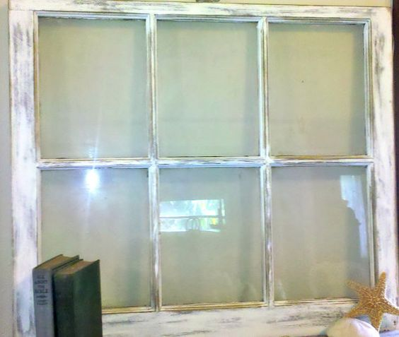 Vintage Shabby Chic Rustic Window Frame White by MyonlyLove, $75.00