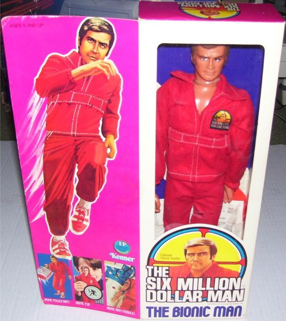 5 Dollar Toys : Kenner the six million dollar man bionic action