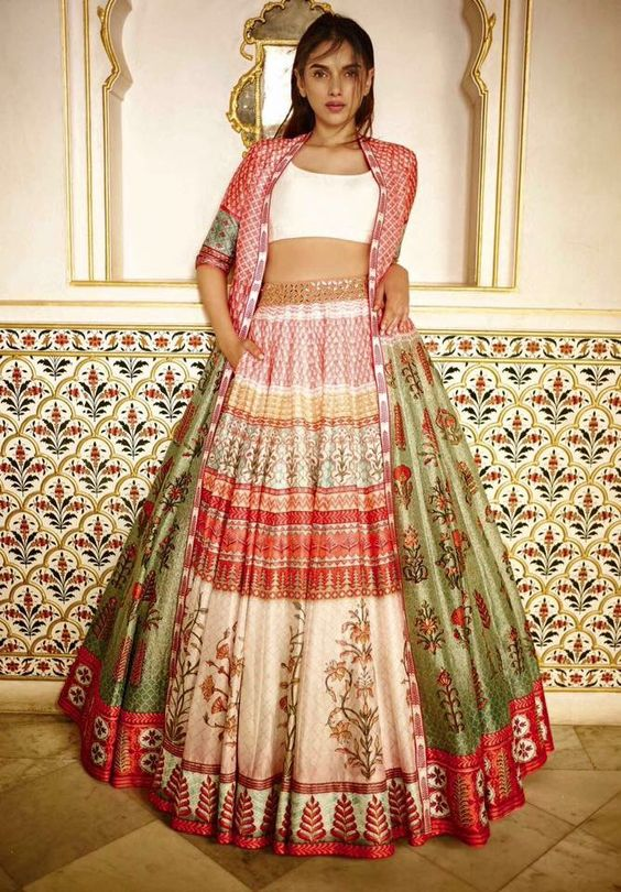 Anita Dongre 2016 spring/summer - long grazing jackets for lehengas