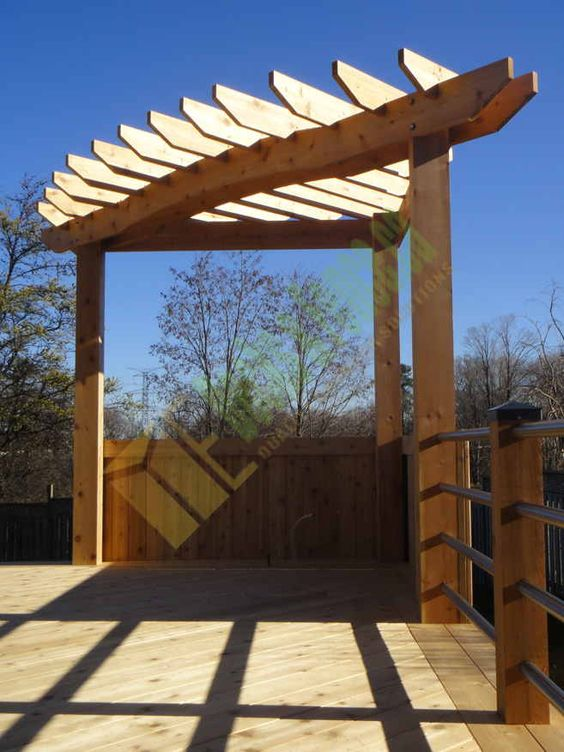 Pergolas Corner Pergola And Toronto On Pinterest