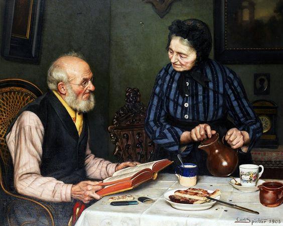 Результат изображения для (Carl Johann Spielter - «Воскресенье днем»).