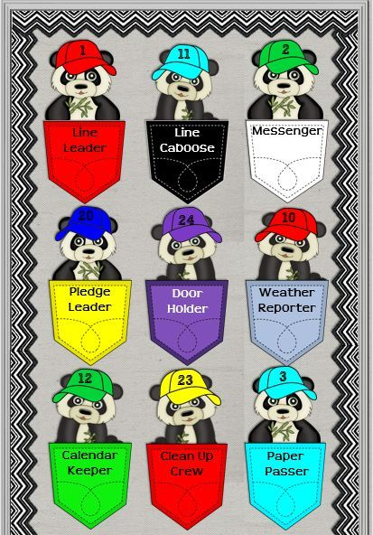 Create a Little Panda-monium in your classroom!  Editable product to post your classroom jobs.:
