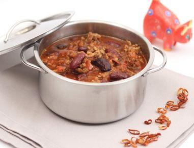 Chili con Carne kann auch schlank sein. Das Rezept dazu findet ihr auf www.ichkoche.at