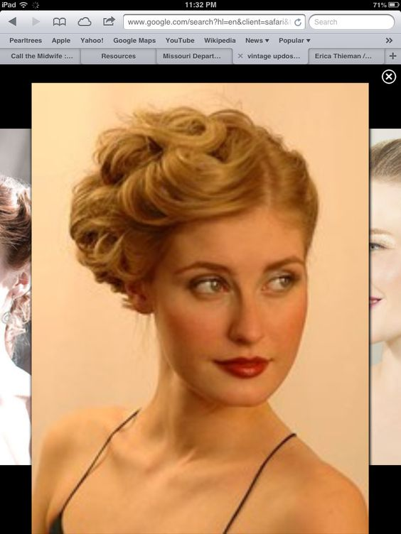 Vintage updo.... Love this!