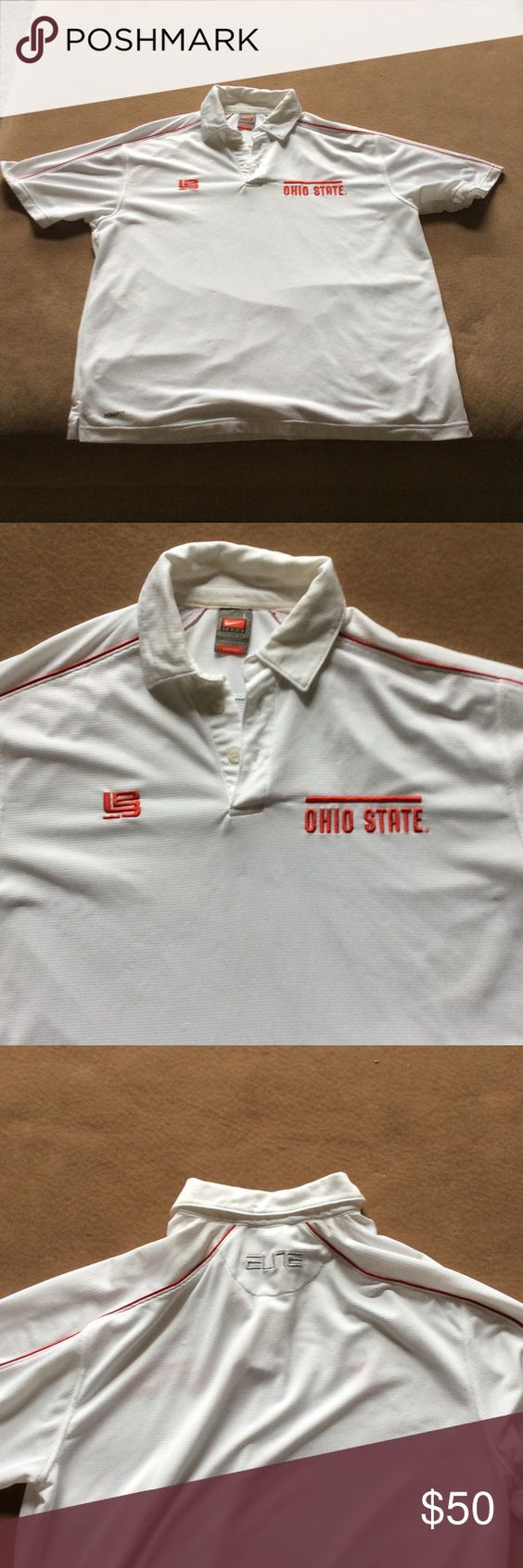 Nike fit dry Ohio State polo with Lebron Jameslogo Nike Fit Dry OSU with Lebron James