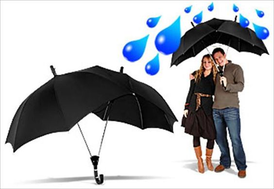 Heart shaped umbrella for couples .........  comes in many colors