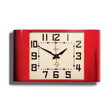 Red Metro Wall Clock Newgate Clock www.theroyalgallery.co.uk/index.php?location=item&item=369&art=Clocks&source=2