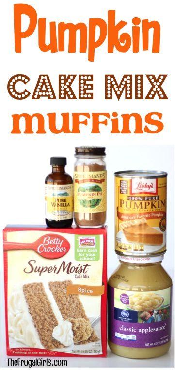 Pumpkin Muffins Using Carrot Cake Mix