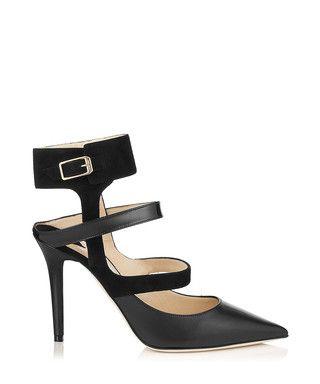 Black leather multiple strap heels Sale - Jady Rose Sale | STYLE