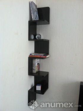 Repisa esquinera flotantes zig zag nueva color chocolate - Esquineros para pared ...