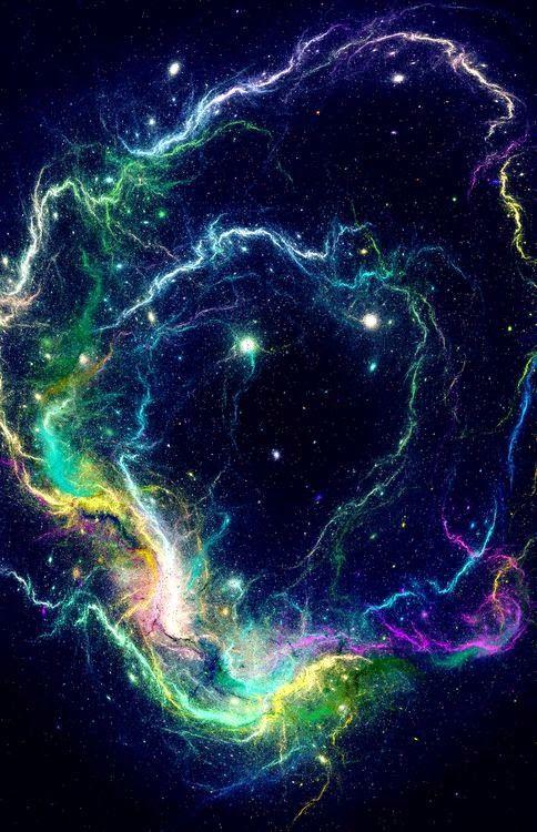 Space Storm. Nebula, stars, cosmos, fractals