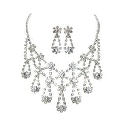 Hollywood Crystal Earrings & Necklace Set (Target): $59.99