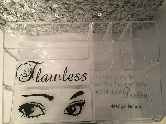 A personal favorite from my Etsy shop https://www.etsy.com/listing/235795579/personalized-acryllic-makeup-organizer
