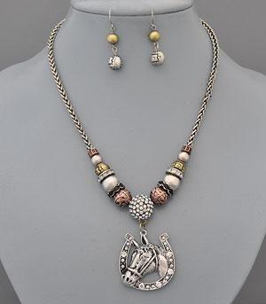 Country Girl Fashions, LLC - Western Theme Pendant Necklace Set Horse/Horseshoe, $14.99 (http://www.countrygirlfashionsonline.com/products/western-theme-pendant-necklace-set-horse-horseshoe.html)
