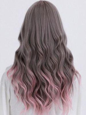 Pelo con puntas colores peinados 2014