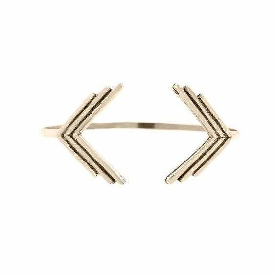 Triple Arrow Open Cuff (View More Colors) - 22K GOLD PLATED - The 2 Bandits - 1
