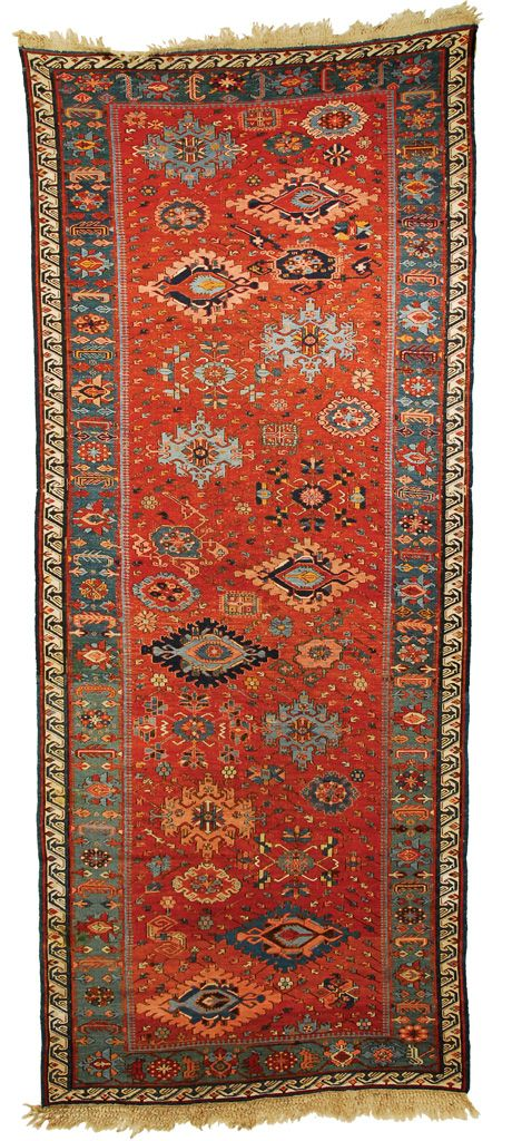 Grogan and Company | SOUMAC LONG RUG, Caucasus, circa 1880  10 feet x 4 feet 2 inches