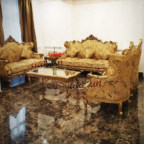 Best Luxurious Wooden Sofa Set For Living Room Sf 0092 In 2020 Wooden Sofa Set Wooden Living Room Furniture