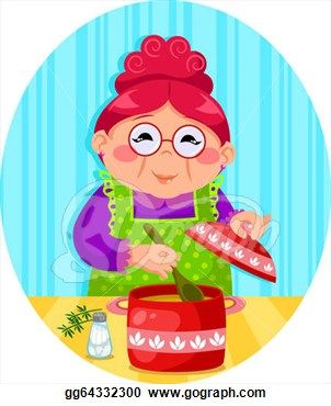 grandma drawing | Drawing - Grandma's cooking. Clipart ...