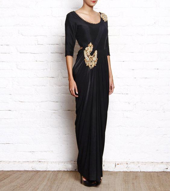 Gown style Saree drape