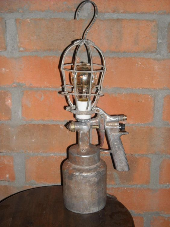 Vintage Craftsman Paint Gun Lamp by RelicsReimagined on Etsy, $60.00