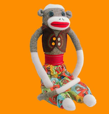 Jasper Fez is  beautifully handcrafted and very handsome, a monkey who knows  how to impress the girls! He is 56cms (22