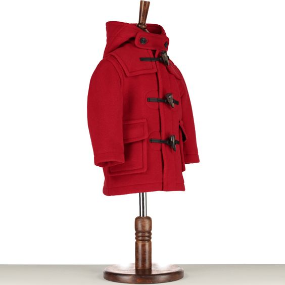 Children's Duffle Coat - Red Made in England www.oldbrown.co.uk ...