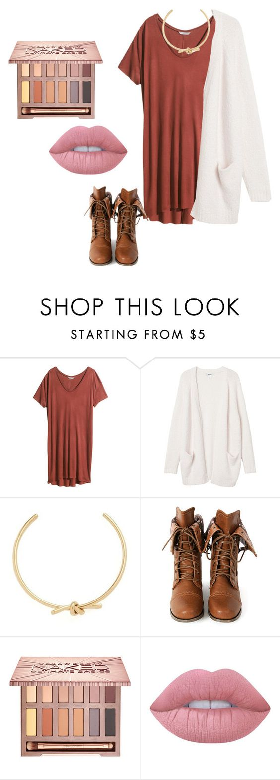 """""""Fall Dress #213"""" by dancing203 ❤ liked on Polyvore featuring H&M, Monki, Amber Sceats, Wild Diva, Urban Decay and Lime Crime"""