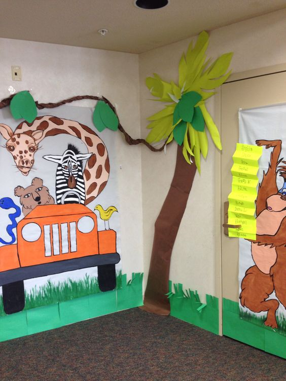 Classroom Decoration Jungle Theme ~ Jungle theme classroom decor kiddos pinterest